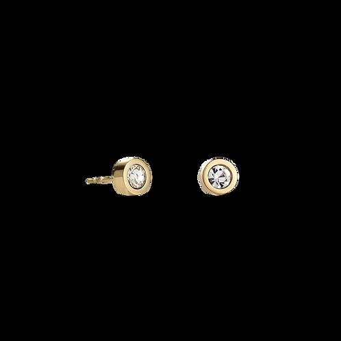 Coeur de Lion Yellow & Clear Stud Earring