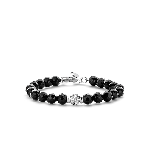 Ti Sento Black Onyx Bead Bracelet