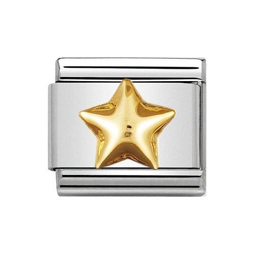 Nomination Gold Raised Star