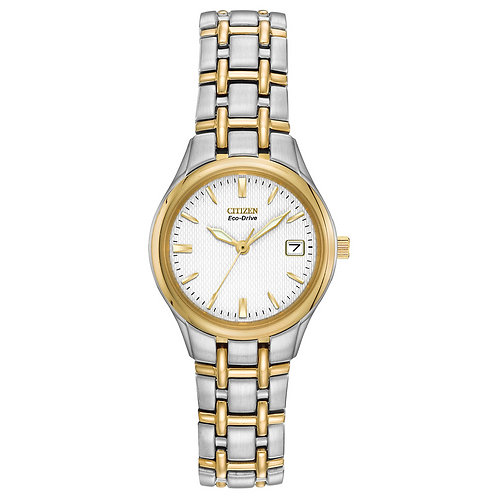 Citizen Eco-Drive Silhouette Ladies' Two Tone Bracelet Watch