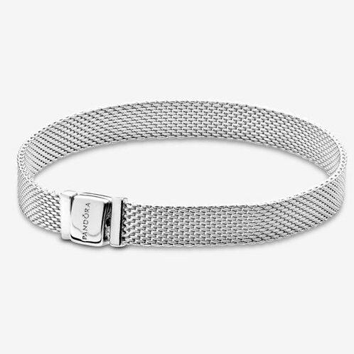 Reflexions Silver Mesh Bracelet