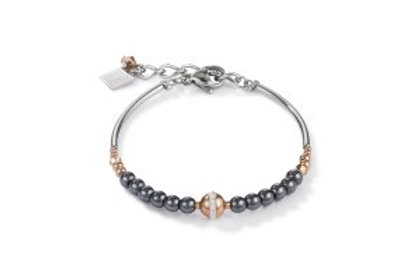 Coeur de Lion Haemetite & Rose Gilt Bracelet
