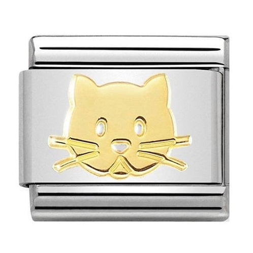 Nomination Gold Cat Face