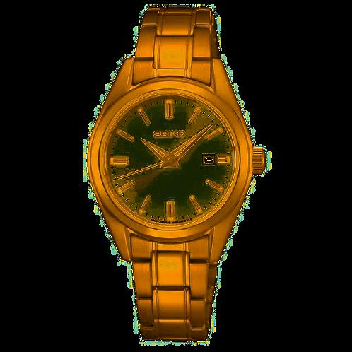Seiko Ladies Gold-Tone Conceptual Watch