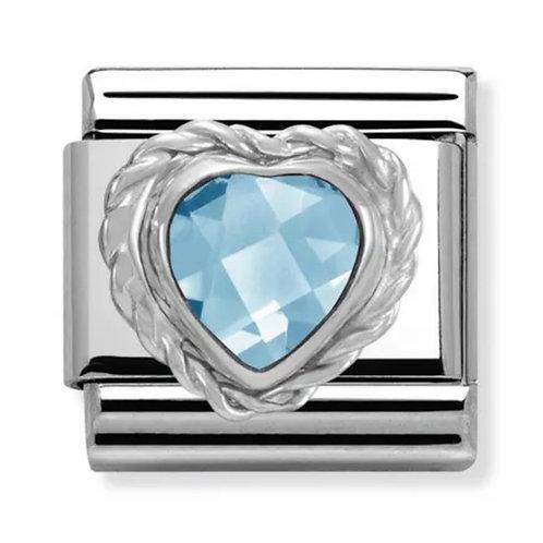 Nomination Silver Blue CZ Heart