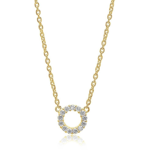 Cubic Zirconia Gold-Plated Necklace