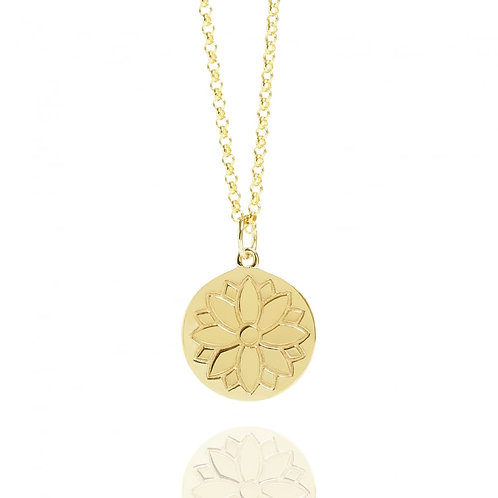 Gold Vermeil Purity Coin Necklace