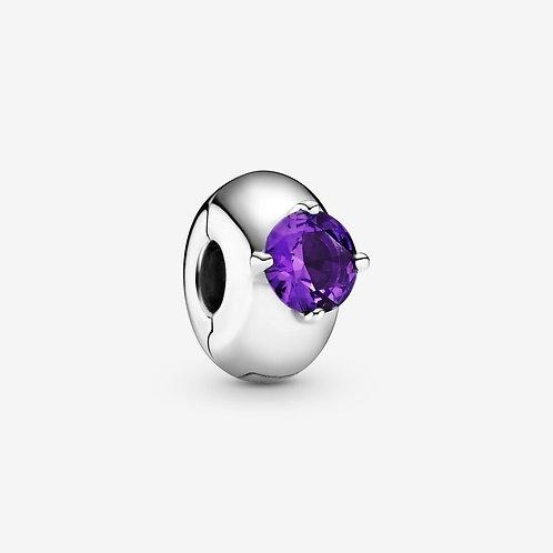 'Colours' Silver Purple Clip