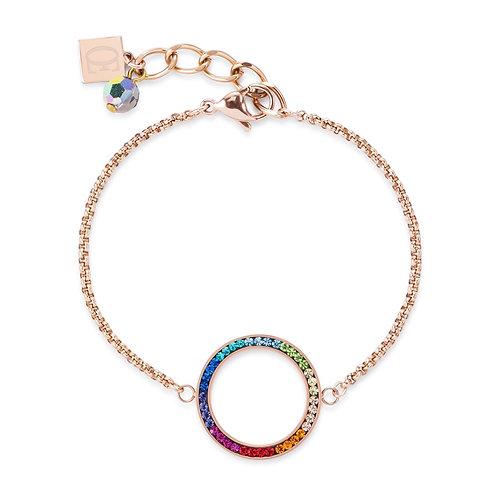 Coeur de Lion Multi Colour Pave Crystal Bracelet