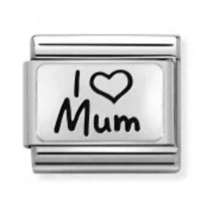 Nomination Silver I Love Mum