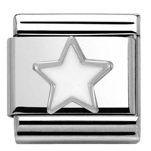 Nomination Silver White Star