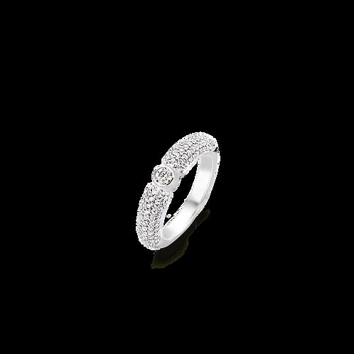 Ti Sento White CZ Pave Style Ring - Size N