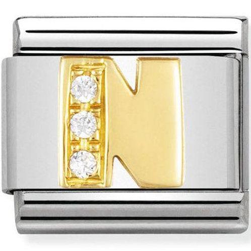 Nomination Gold CZ Letters N-Z