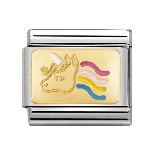 Nomination Gold Multicoloured Unicorn