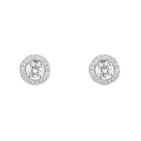 Silver CZ Stud Earrings