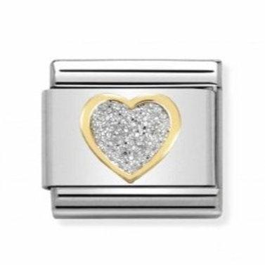 Nomination Gold Glitter Heart