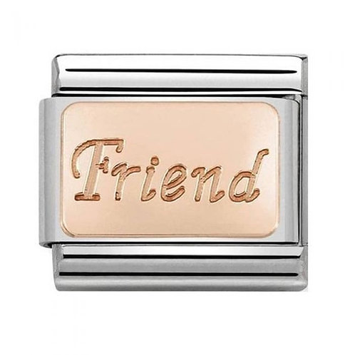 Nomination Rose Gold Friend Plate