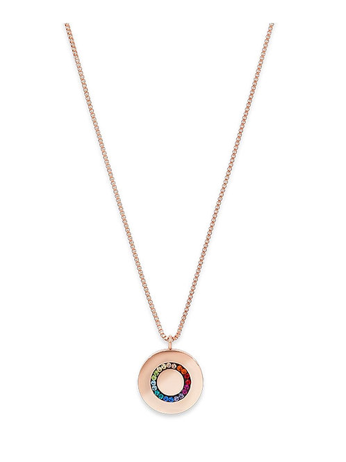 Coeur de Lion Multi Colour Pave Crystal Necklace
