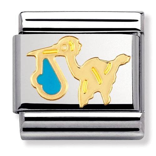 Nomination Gold Stork - Blue