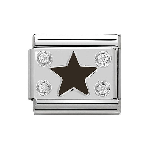 Nomination Silver Black CZ Star