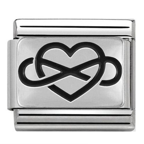 Nomination Silver Heart with Infinity