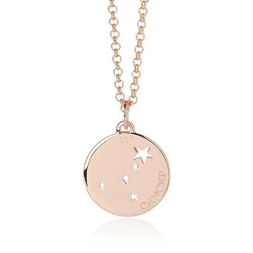 Rose Gold Vermeil Cancer Necklace