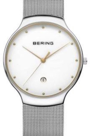 Bering Classic Polished Silver Watch
