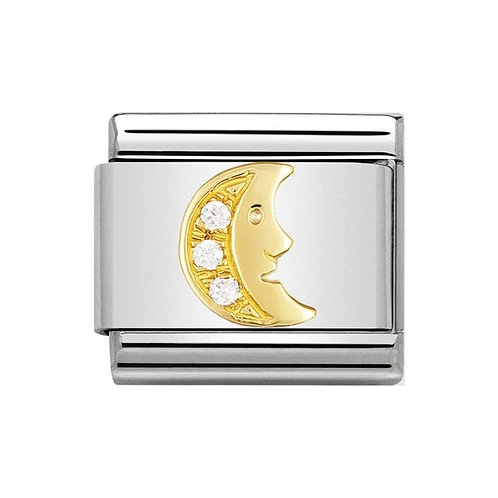 Nomination Gold CZ Moon