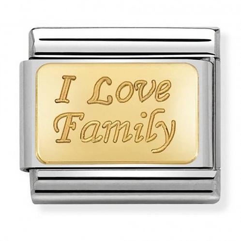 Nomination Gold I Love Family