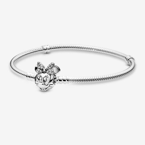 Moments Pavé Minnie Mouse Clasp Snake Chain Bracelet