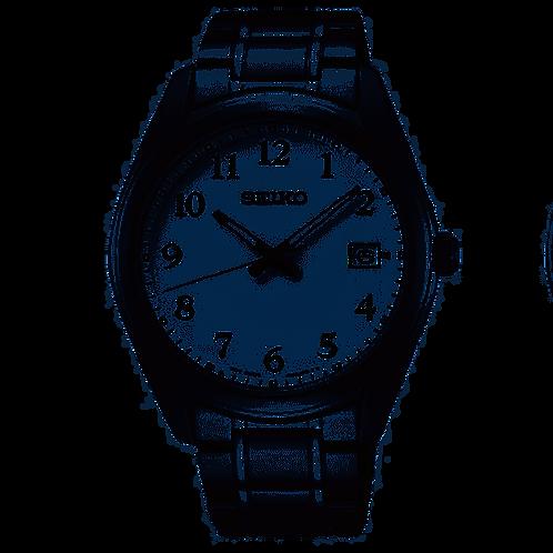 Seiko White Dial Stainless Steel Bracelet Watch