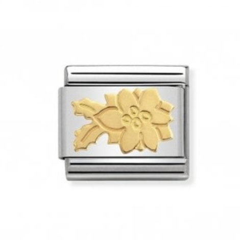 Nomination Gold Poinsettia