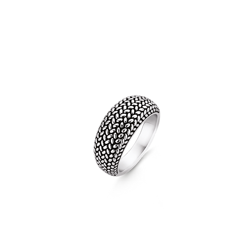 Ti Sento Braided Patterned Ring - Size N