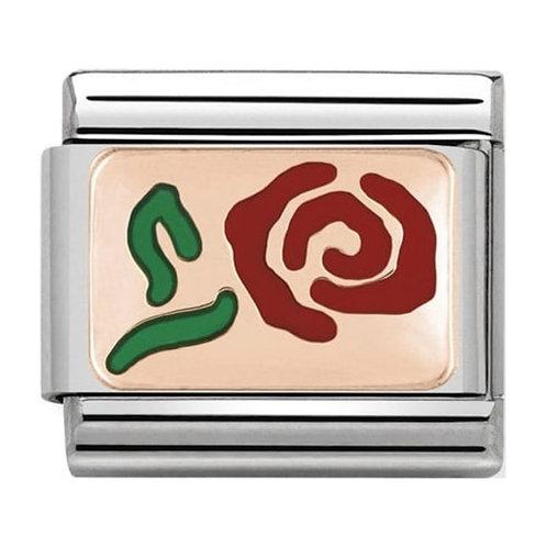 Nomination Rose Gold Red Rose