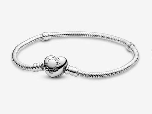 Moments Heart Clasp Snake Chain Bracelet