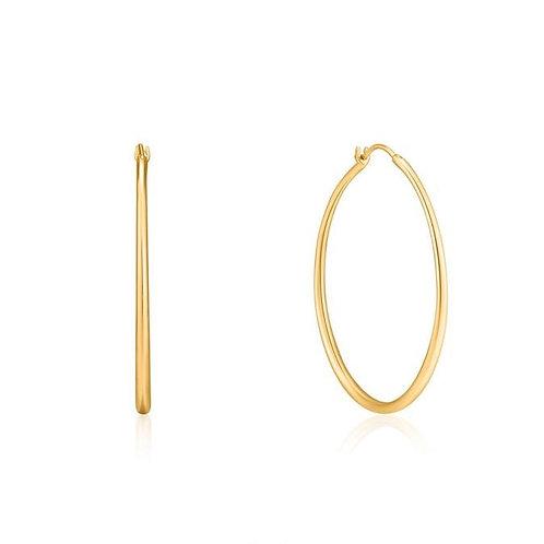 Gold Luxe Hoop Earrings