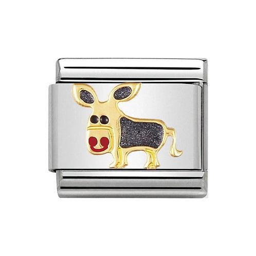 Nomination Gold & Enamel Donkey
