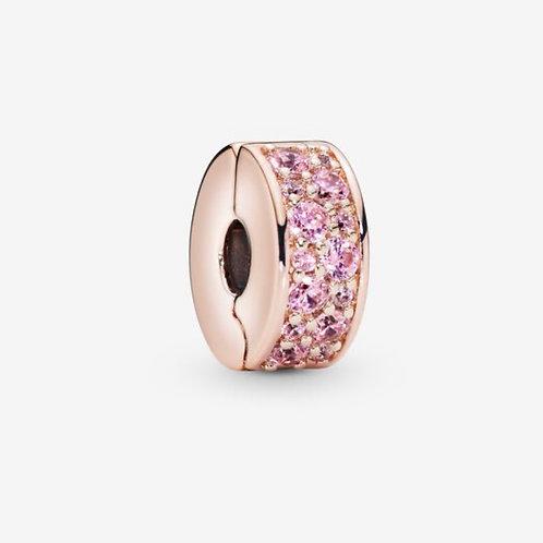 Rose Pink Pavé Clip Charm
