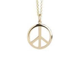 Gold Vermeil Peace Necklace