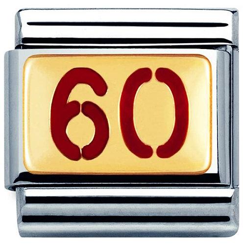 Nomination Gold & Red Enamel 60