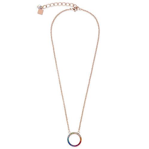 Coeur de Lion Multi Colour Pave Crystal Necklace
