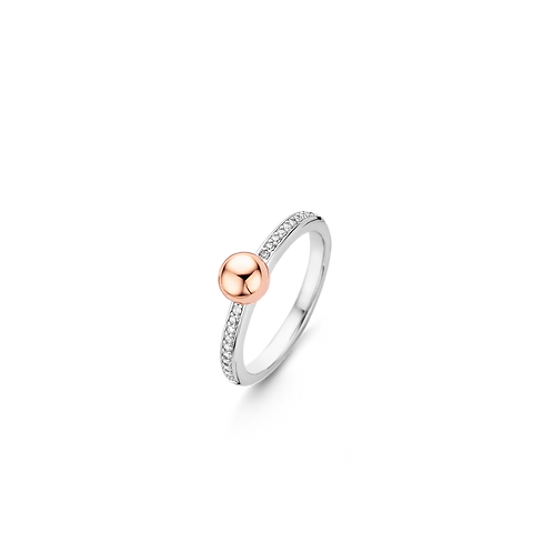 Ti Sento Rose Gold-Plated Drop Ring - Size O