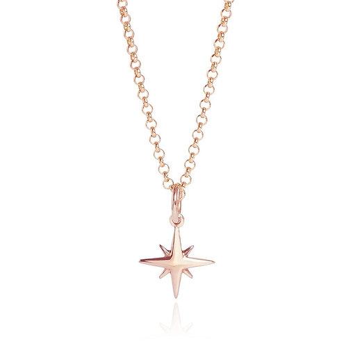 Tiny Star Rose Gold Vermeil Necklace