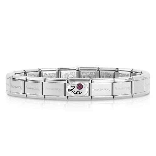 Nomination Silver Birthstone Bracelet