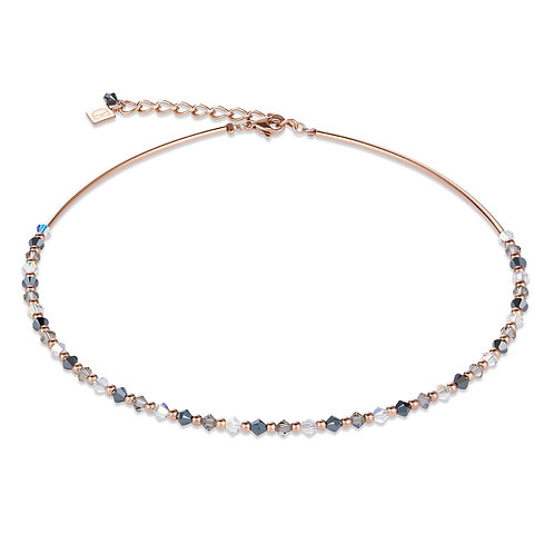 Coeur de Lion Swarovski Crystal and Rose Plated Stainless Steel Necklace