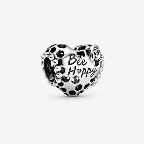 Bee Happy Honeycomb Heart