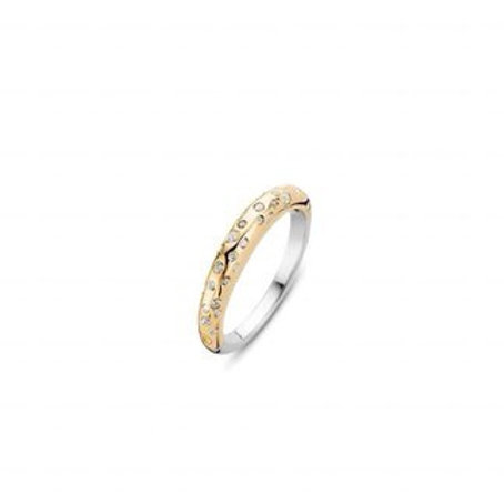 Ti Sento Rose Gold-Plated Stardust Ring - Size O