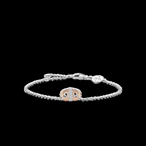 Ti Sento Rose Gold-Plated Link Bracelet