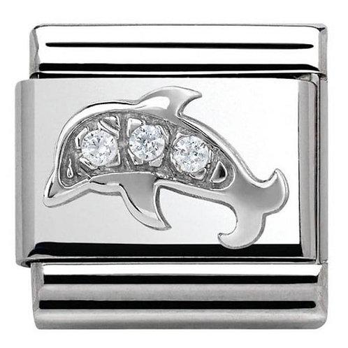 Nomination Silver CZ Dolphin