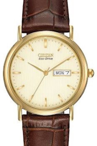 Citizen Mens Leather Strap Watch